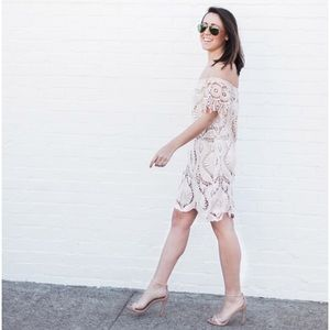 Free people Sagrada Crochet Lace Dress in Cream